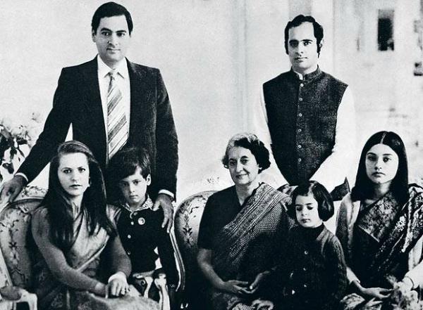 Indira Gandhi Family