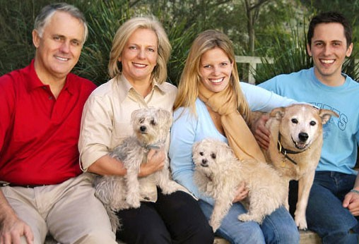 Malcolm Turnbull with wife Lucy, daughter Daisy, son Alex