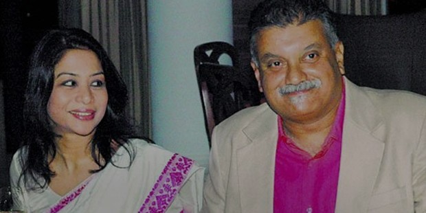 Peter Mukherjea With his Wife Indrani Mukerjea