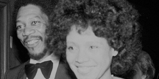 Morgan Freeman with his then first wife, Jeanette Adair Bradshaw