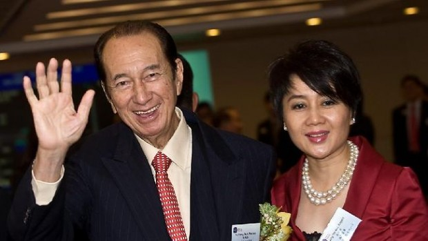 Lawrence Ho Father(Stanley Ho) With Step Mom(Leong On-kei)