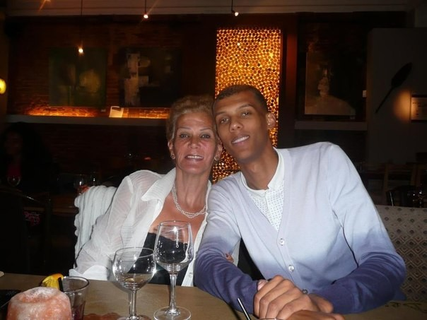 Stromae with his mother Miranda Marie Van Haver