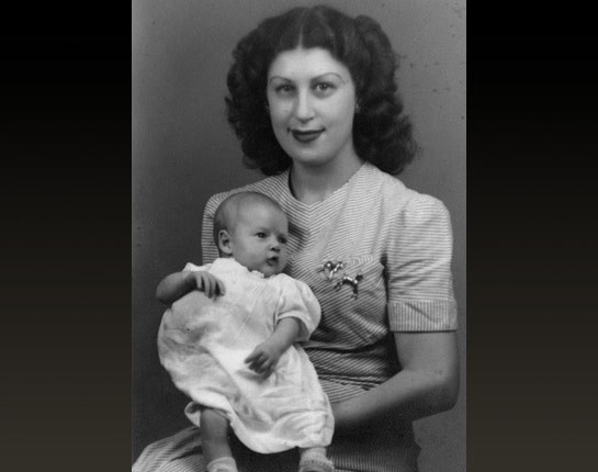 Baby Bill with his Mother Virginia Clinton Kelley