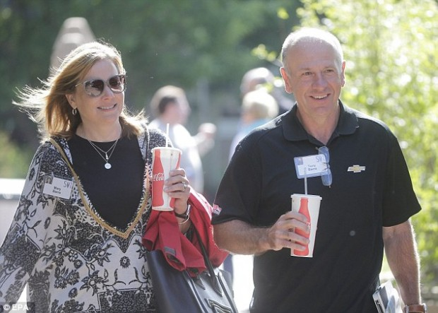 Mary Teresa Barra, CEO of General Motors (left), with her husband Tony
