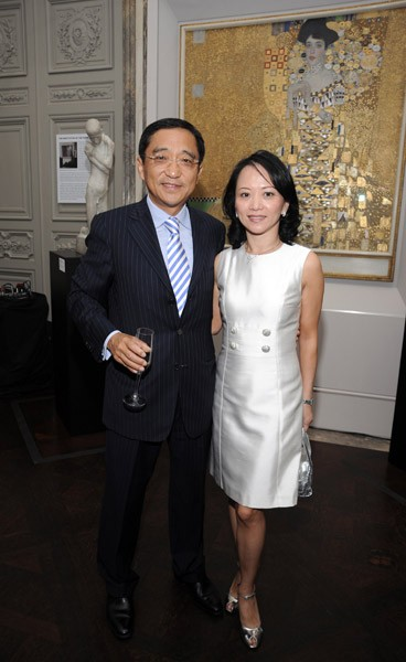 Silas Chou with His Wife Celia