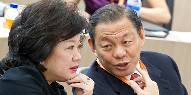 Sukanto Tanoto With His Wife Tinah Bingei Tanoto