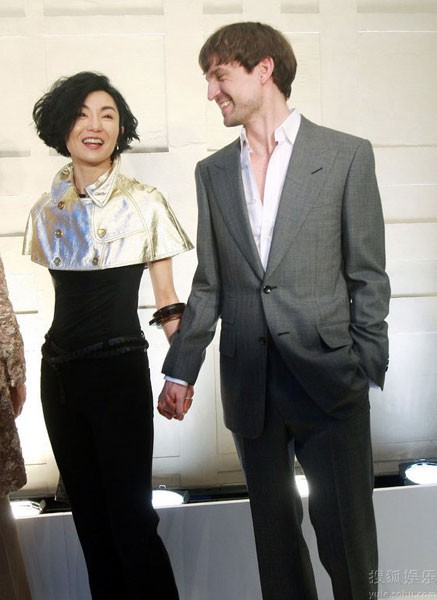 Maggie Cheung and her German architect boyfriend Ole Scheeren