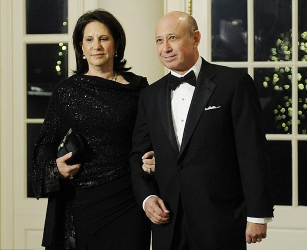 Lloyd Blankfein With His Wife