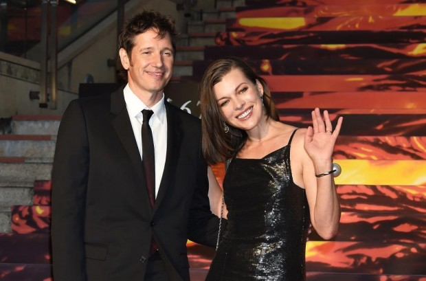 Milla Jovovich With His Present Husband Paul W. S. Anderson