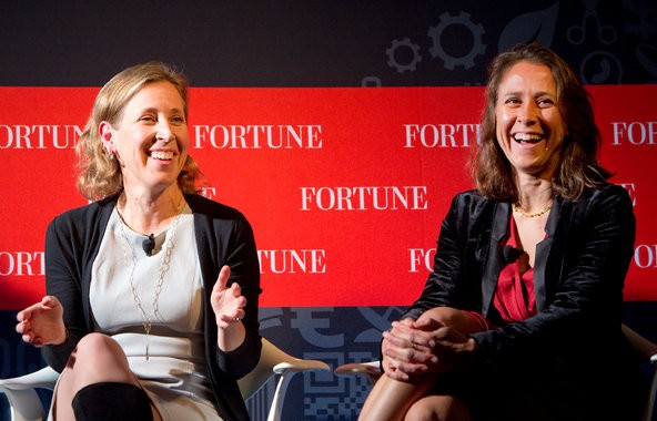 Susan Wojcicki, left, With Sister Anne Wojcicki