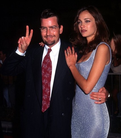 Charlie Sheen With His first Wife Donna Peele