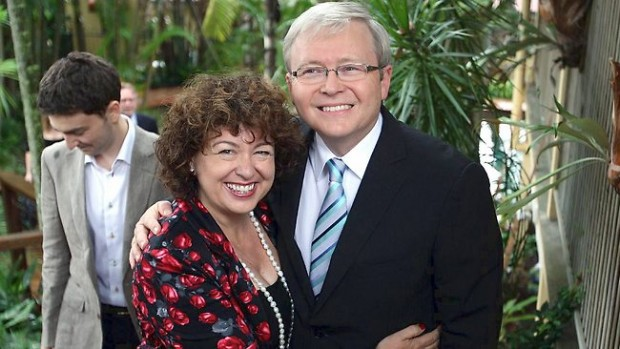 Kevin Rudd With His Wife Therese Rein