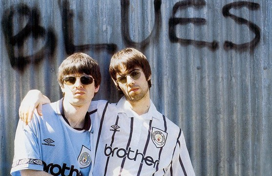 Noel Gallagher With His Brother Liam Gallagher