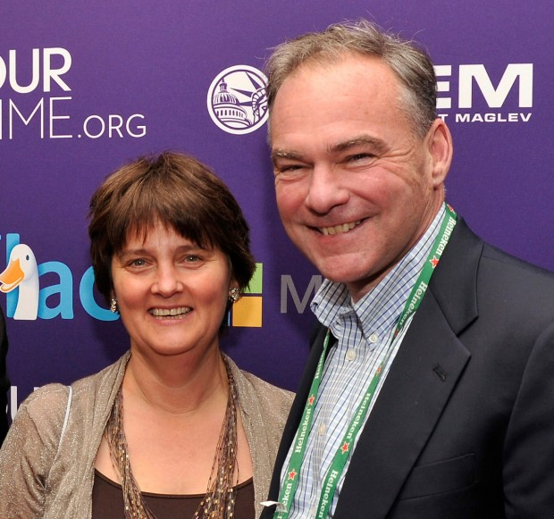 Tim Kaine With His Wife Anne Holton