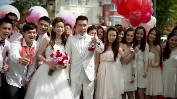 Lee Chong Wei With His Wife Wong Mew Choo (Wedding)