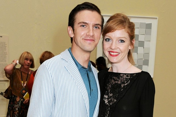 Dan Stevens With his Wife Susie Hariet
