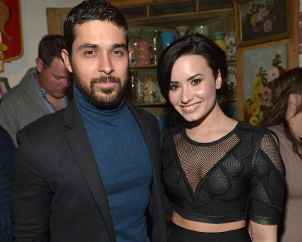 Wilmer Valderrama With His Partner Demi Lovato