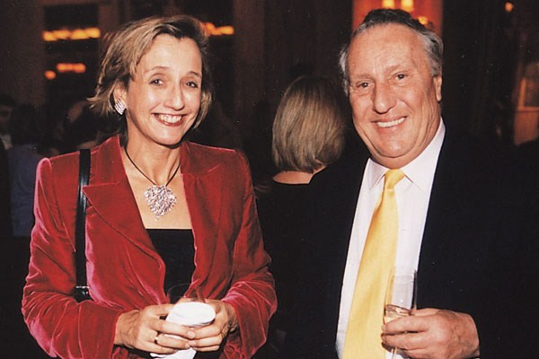 Frederick Forsyth With His Wife Sandy Molloy