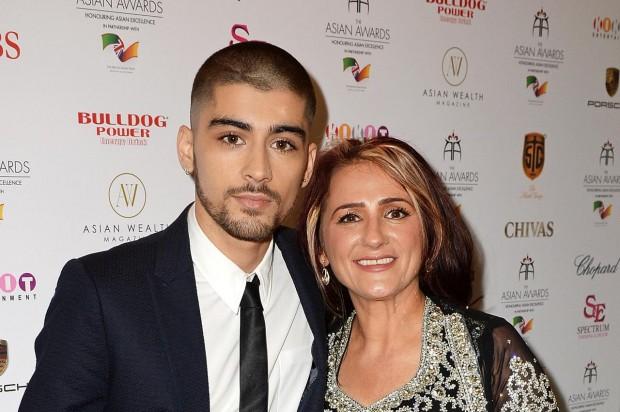Zayn Malik with his Mother Trisha Malik