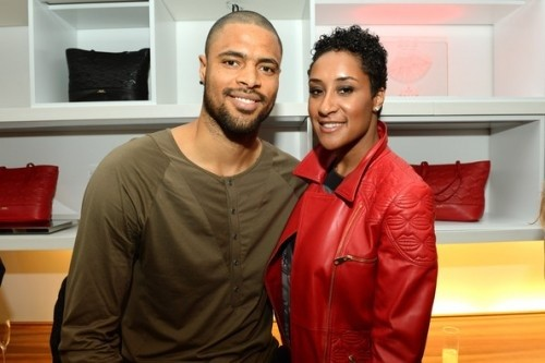 Tyson Chandler With his Wife Kimberly Chandler