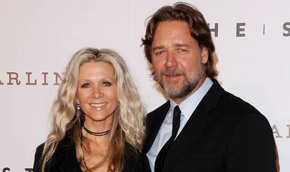 Russell Crowe with his wife Danielle Spencer