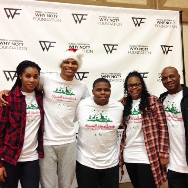 Russell Westbrook with his Family