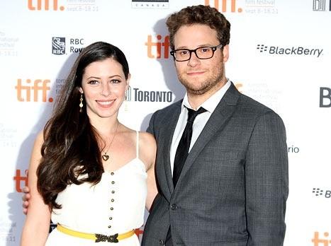Seth Rogen and his wife  Lauren Miller