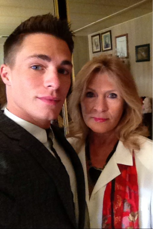 Colton Haynes with her Mother Dana Denise Mitchell