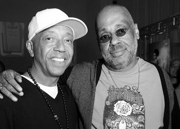 Russell Simmons and his father Daniel Simmons