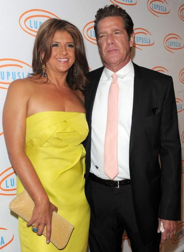 Glenn Frey and his wife Janie Cindy