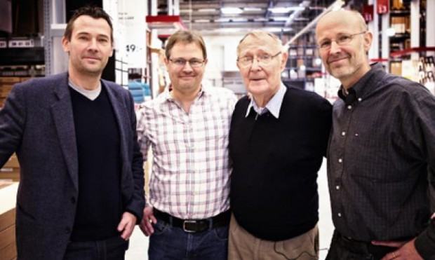 Ingvar Kamprad With His Sons Jonas, Mathias and Peter.