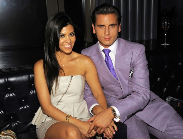 Kourtney With Her Husband Scott Disick