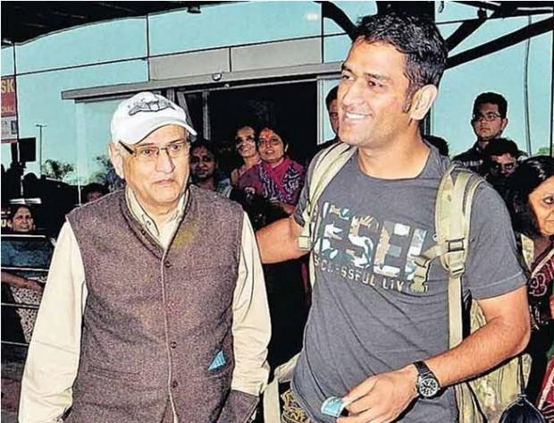 Mahi with his Dad Pan Singh