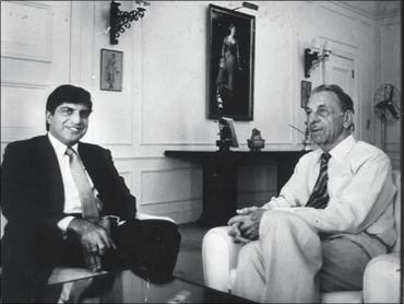 Ratan Tata with His Father J R D Tata