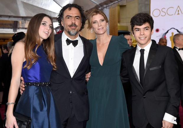 Alejandro González Iñárritu With His Family