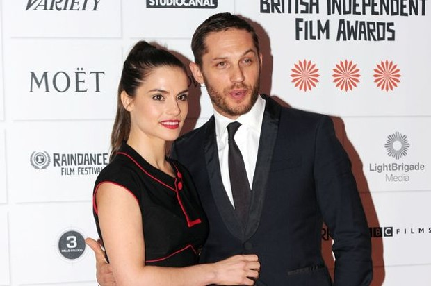Tom Hardy With His Wife