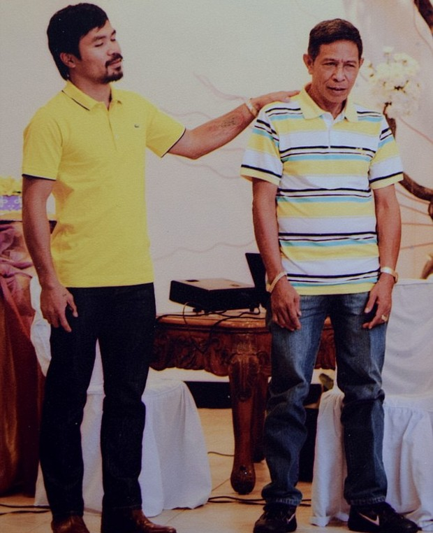 Manny Pacquiao With His Father Rosalio Pacquiao