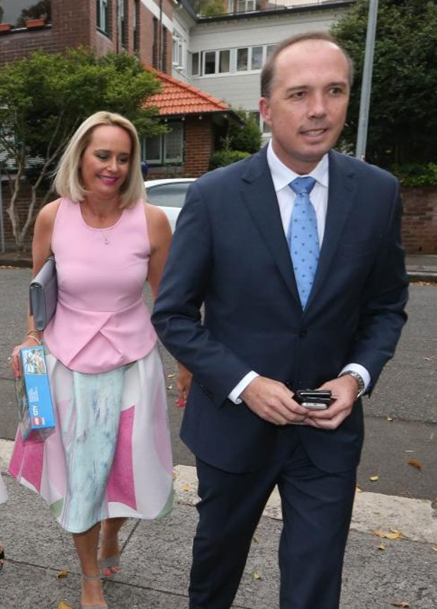 Peter Dutton With his Wife Kirilly Dutton