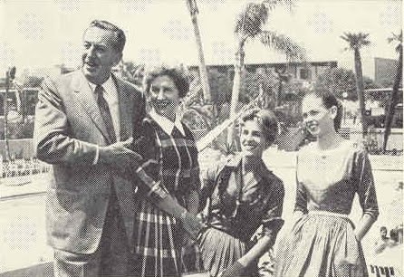 Walt Disney and his Family in 1960