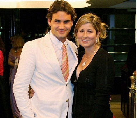 Roger Federer with his wife Mirka Federer