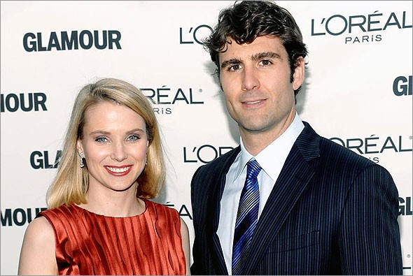 Marissa Mayer and Her Husband Zachery Bogue at Glamour Magazine 2009