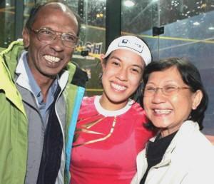 Nicol David Family