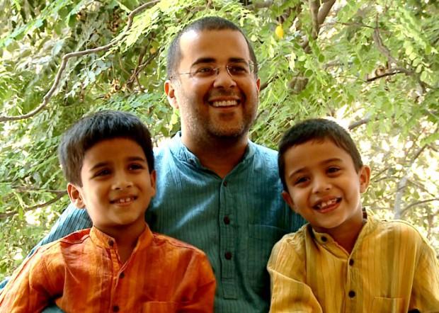 Chetan Bhagat Sons Shyam and Ishaan