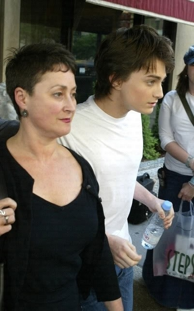 Daniel Radcliffe with Mother