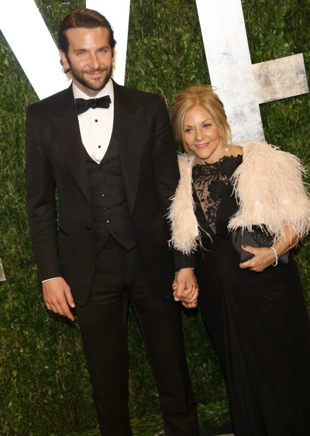 Bradley Cooper with his mother Gloria Campano at 2013 Vanity Fair Oscar Party in 2013