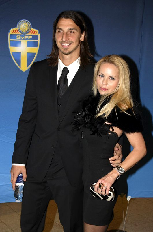 Zlatan Ibrahimovic with his Partner Helena Seger