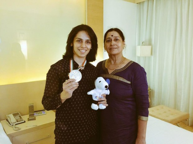 Saina Nehwal with Her Mother