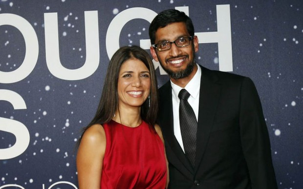 Sundar Pichai With Wife