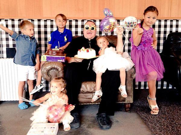 Kim Dotcom with his Children