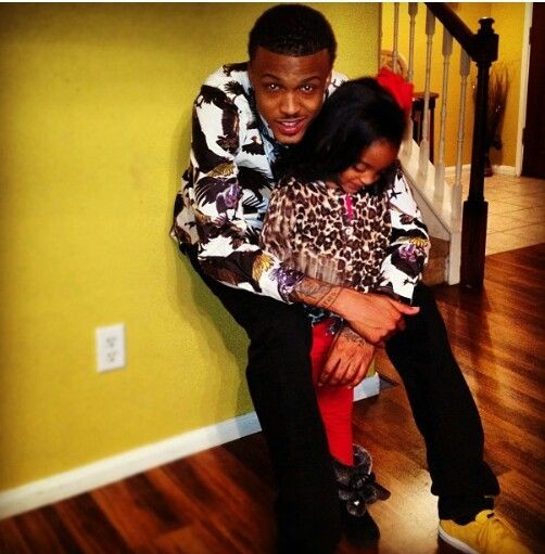 August Alsina With Niece Kay Kay